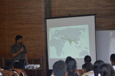 Ashan giving his talk on Sri Lanka's wildcats